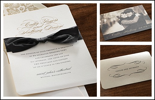 Receive 25 FREE cards when you order 75 wedding invitations or save the dates from Checkerboard