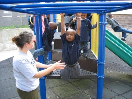 Playing in the playground