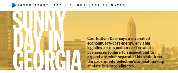 Georgia Named Number 1 State for Business