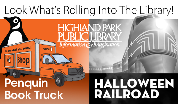 Penguin Book Truck and Halloween Railroad