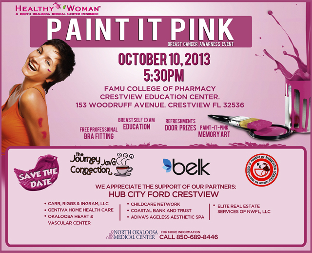 Healthy Woman Pain it Pink Breast Cancer Awareness Event