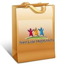 Feed Lake Highlands grocery bag