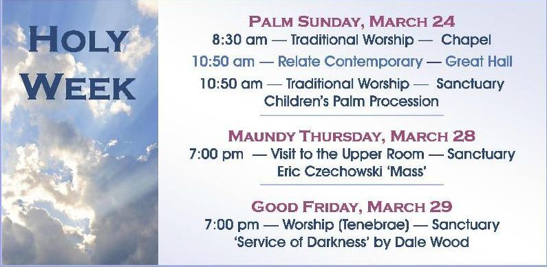 Holy Week ~ Calendar ~ 2013