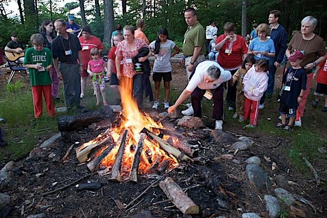 Campfire at Family Camp