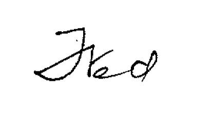 Fred's signature