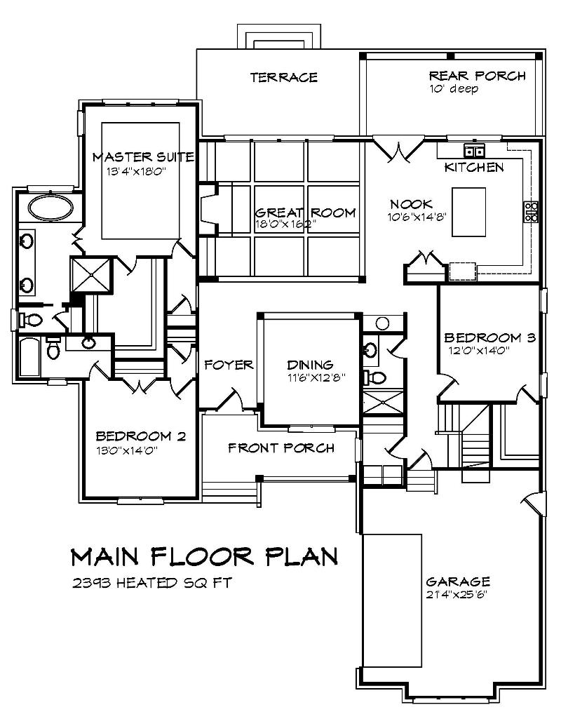 The Belwood 1st Floor Plan