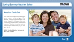 Sammer weather safety module for propane users