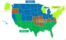 Propane market zone map
