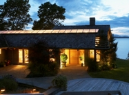 Propane-fueled house on a lake
