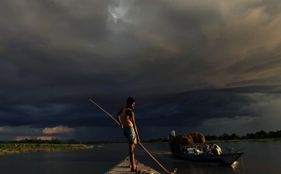 Indian Monsoons in Assam.