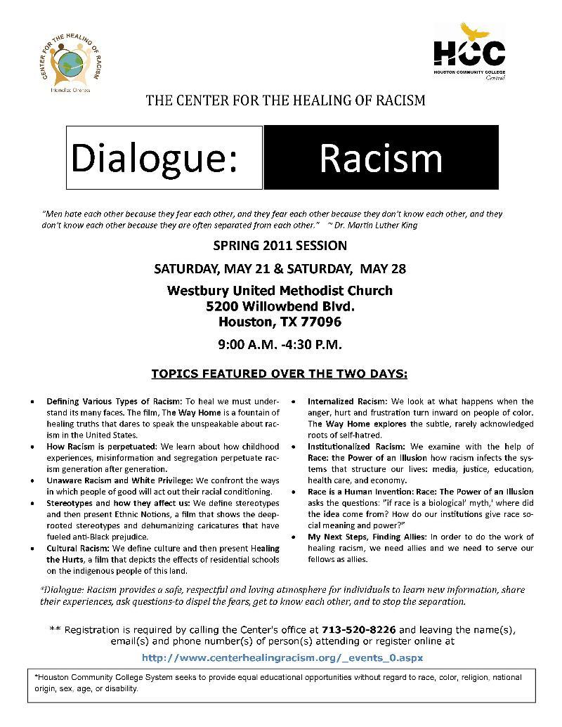 Dialogue Racism Spring 2011