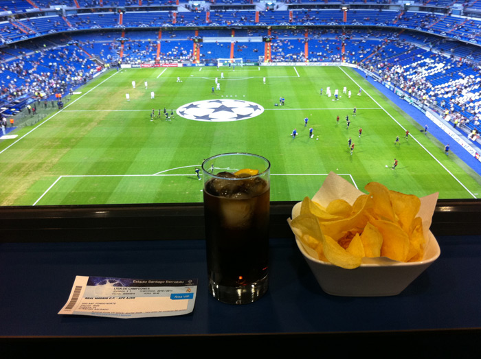 Spanish treasures football and wine the unique traveller - Palco santiago bernabeu ...