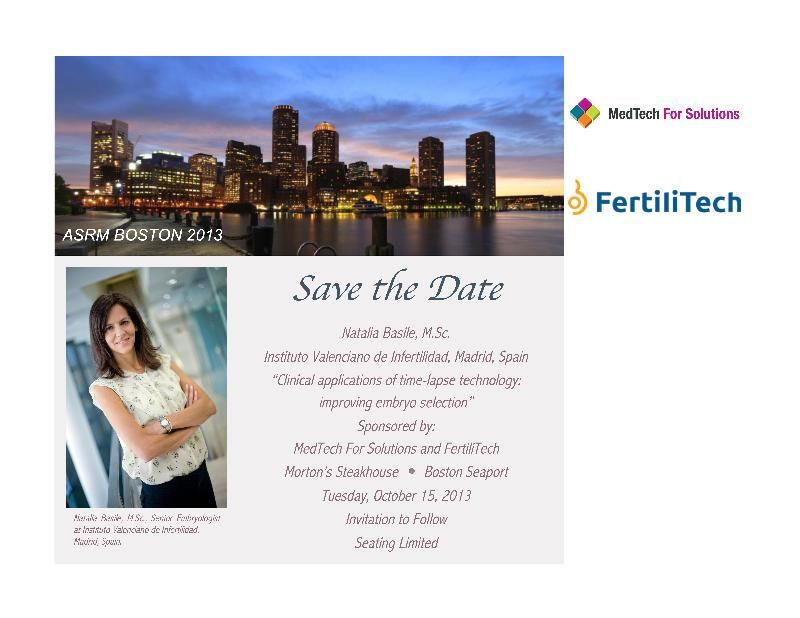ASRM BOSTON 2013 Save the Date