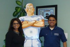 RJ & Asha Patel with one of their favorite employees!