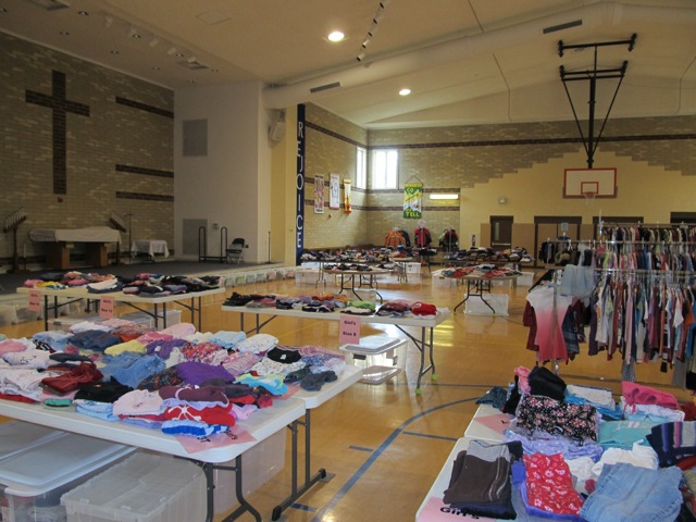 Bethel clothing distribution 08-2013