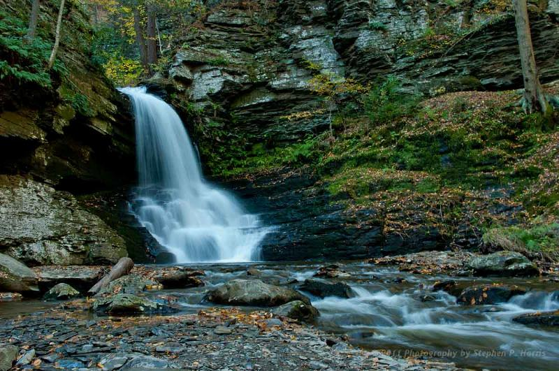 bushkill falls - waterfall photography by stephen harris