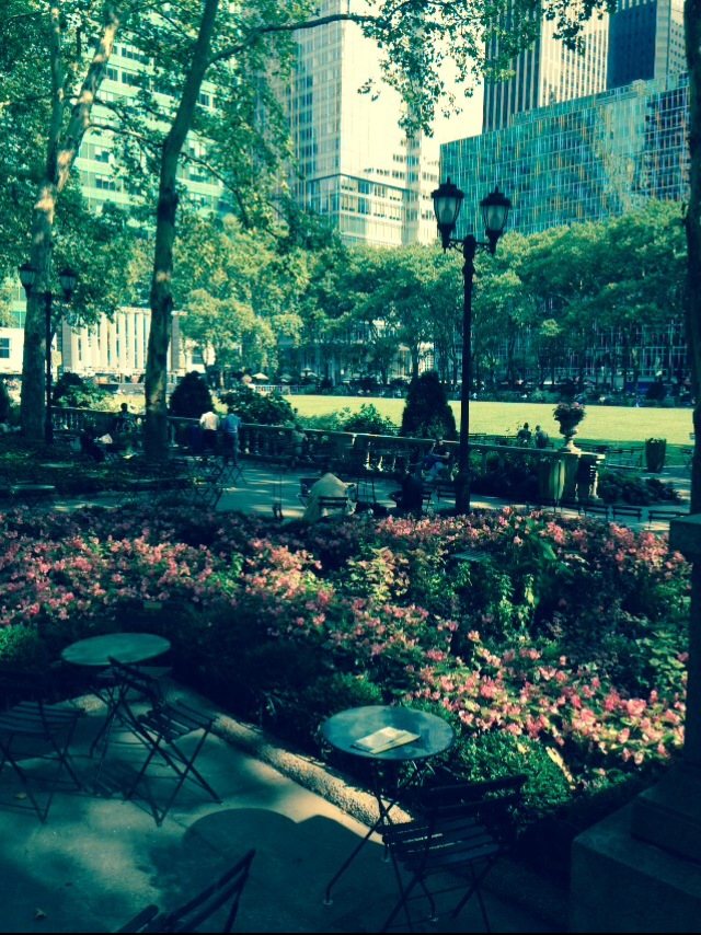 My Tuesday Morning at Bryant Park