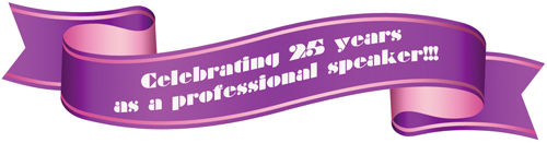 25 years of Professional Speaking Banner