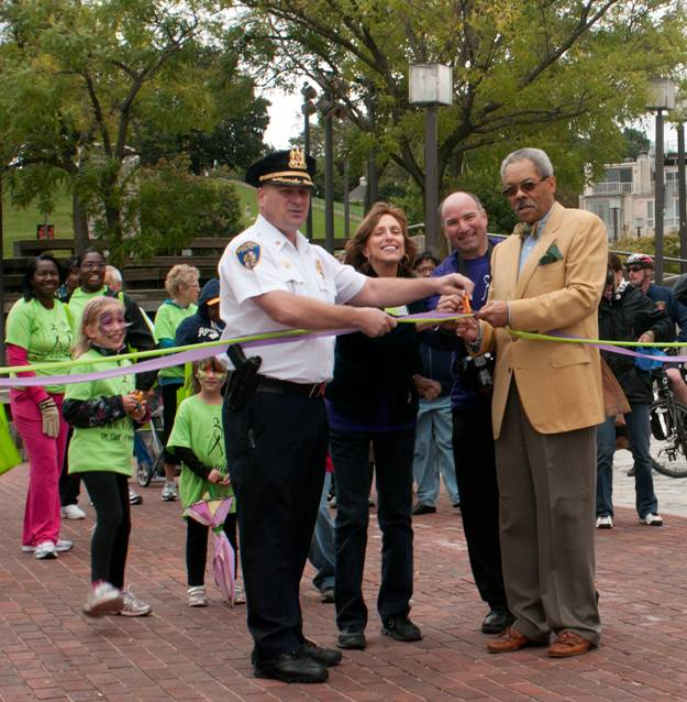 Ribbon Cutting to Start the Walk (2011)
