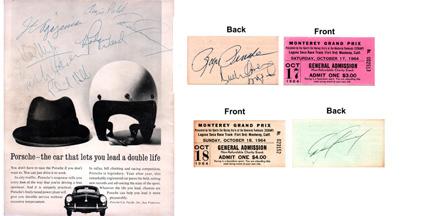 vintage autographs - 2011 lemans from spark & fujimi
