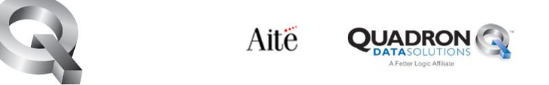 Aite and Quadron Data Solutions logos