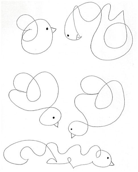 scribbled birds