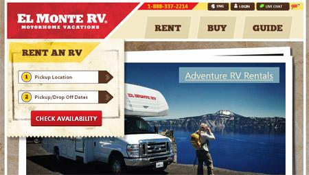The New El Monte RV Website
