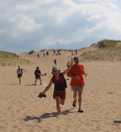Sand dunes run
