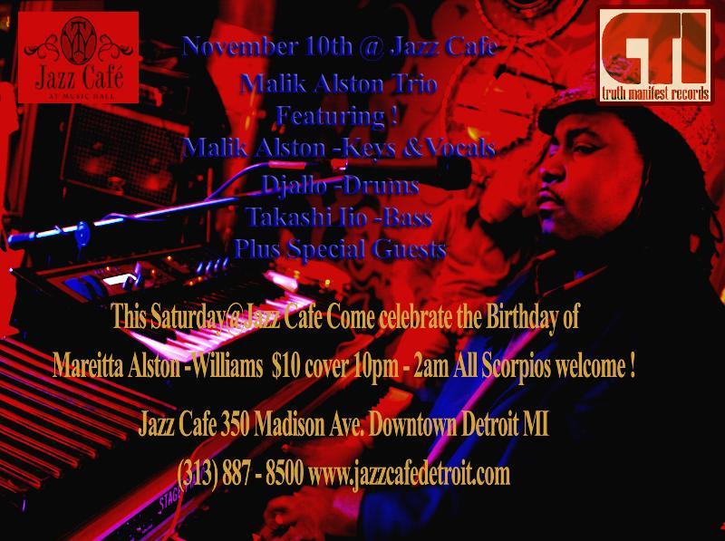 Malik Alston Trio @ Jazz Cafe 11.10.12