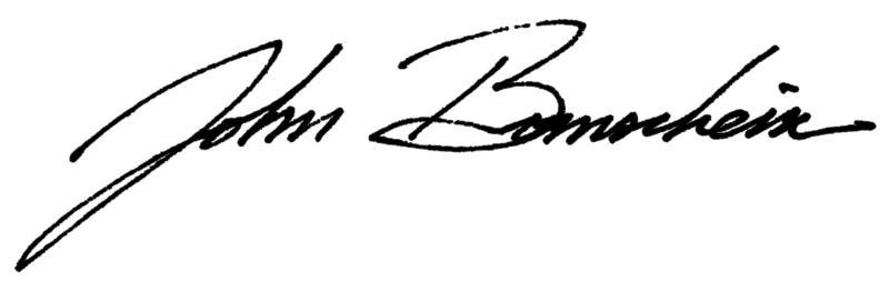 John Bornschein - Signature