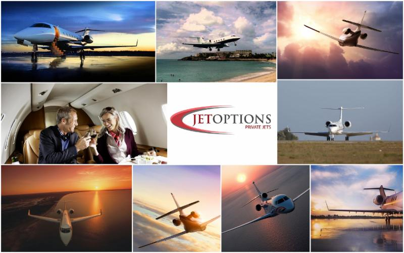 Private jets sunsets jetoptions