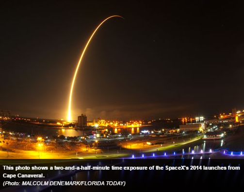 SpaceX's 2014 launch from Cape Canaveral