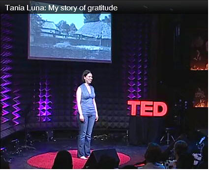Tania speaking at TED