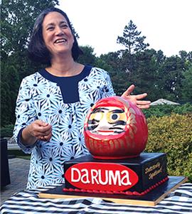 Daruma cake