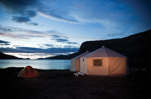 Torngat Base Camp at Sunset