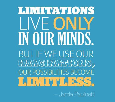 Quote: Limitations Live Only in Our Minds