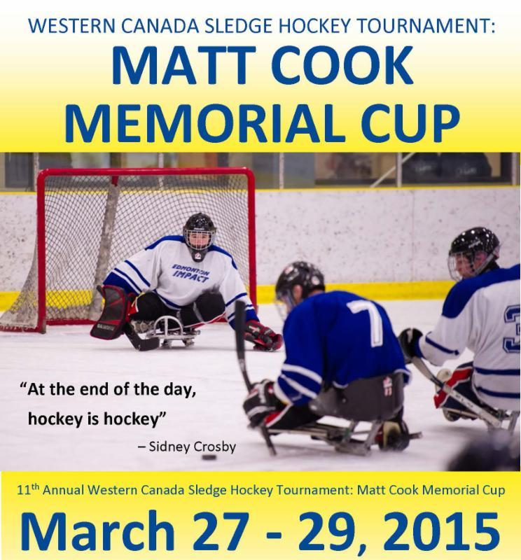 Western Sledge Hockey Tournament, March 27 - 29, 2015