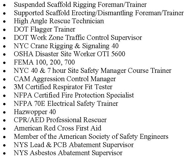 osha trainer credentials