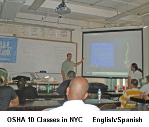 osha 10 instructor in class