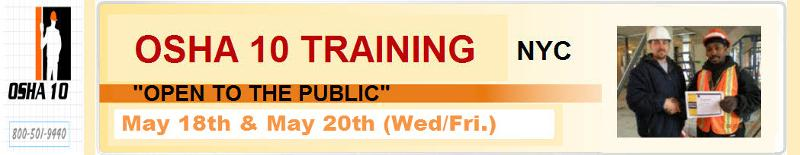Osha 10 Hour Construction Classroom Training Open To The
