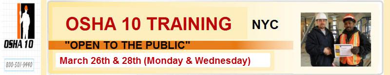 OSHA 10 Hour Construction Classroom Training-Open To The Public ...
