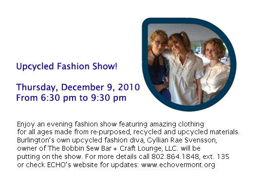 Upcycled Fashion Show