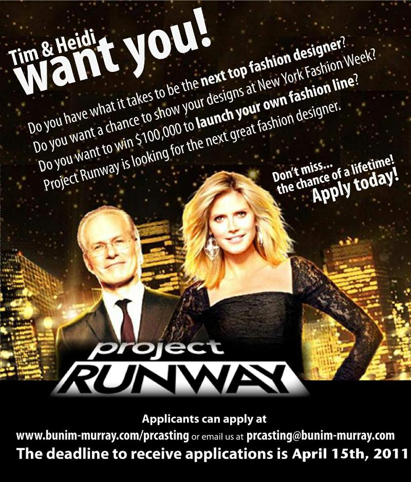 Project Runway Flyer