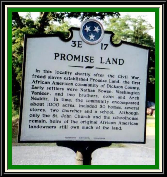 Promise Land marker