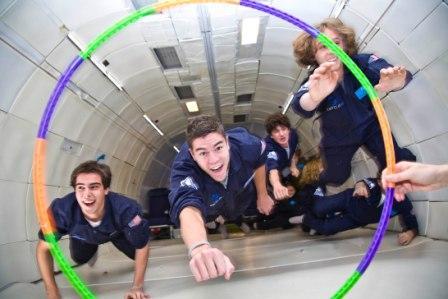 Flying Through Hula Hoop
