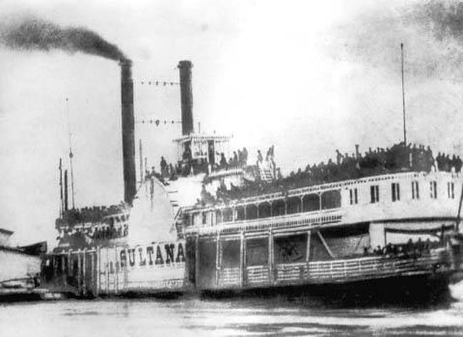 The Sultana docked the day before the sinking