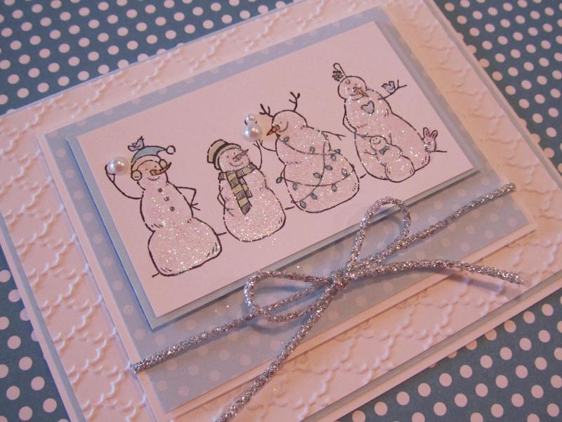 Bashful Blue Snowmen