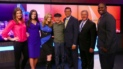 Phil Keaggy with the Fox 17 Staff