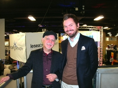 Phil Keaggy at NRB 2012 with LeSea TV's Drew Sumrall