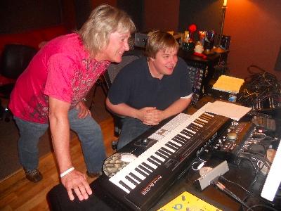 John Schlitt and Dan Needham in studio
